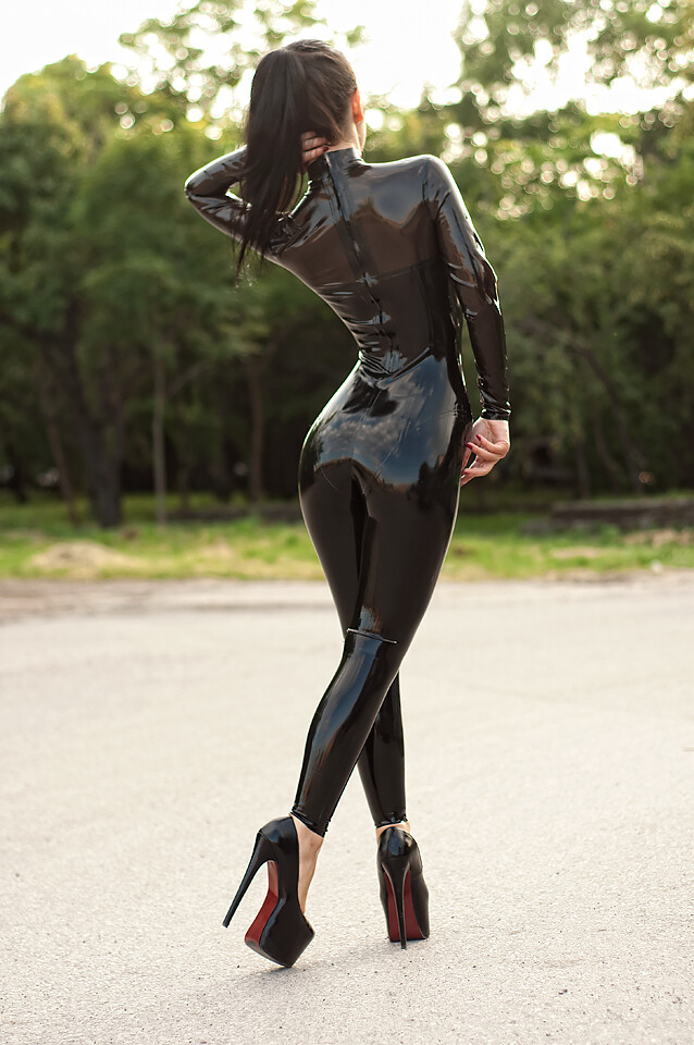 Black Catsuit  Sexy Catsuit Marilyn Yusuf Design Made By -8211