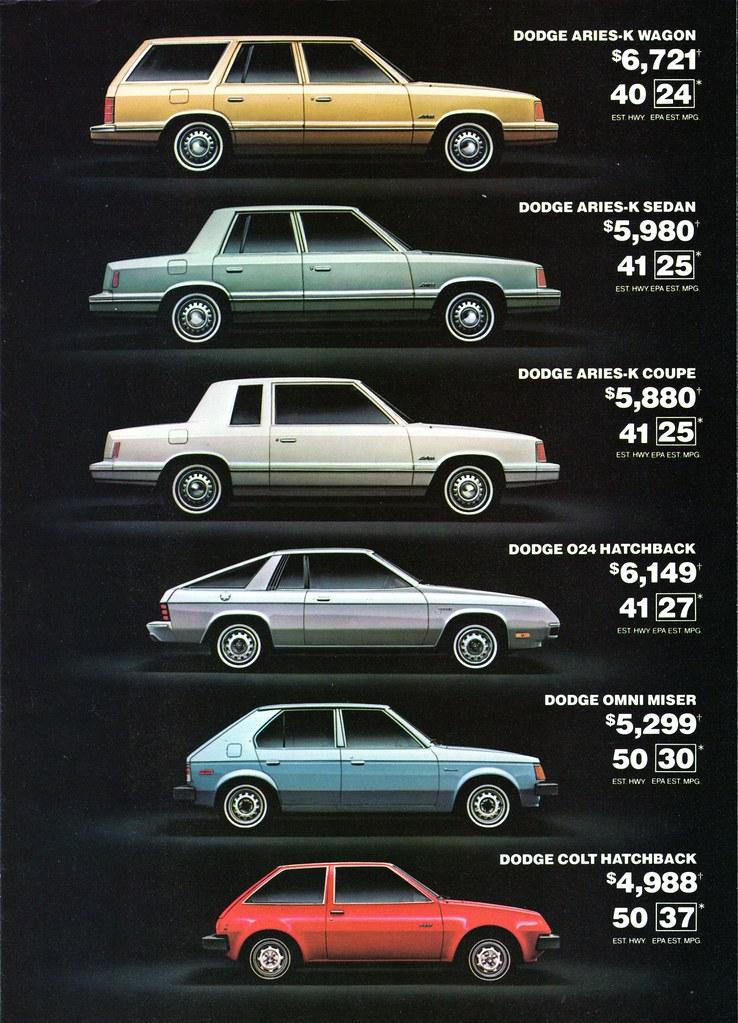 1981 Dodge Aries-K, 024, Omni, & Colt | Alden Jewell | Flickr