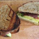 Pickled Cucumber, Bresaola, Emmentaler sandwich