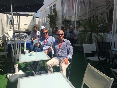 Champagne with my dad in Le Mans