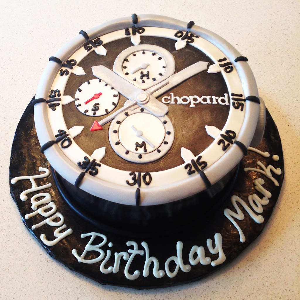 Mens Watch Cake Topper