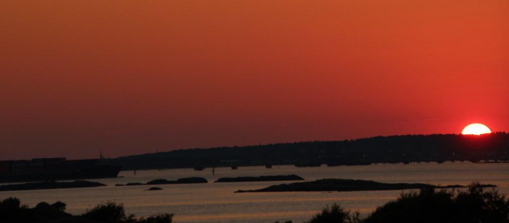Sunset in Saltholmen