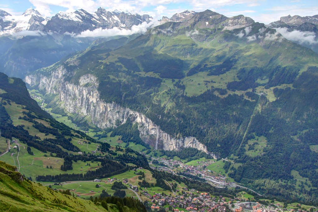 Glacial Landscapes The Lauterbrunnen Valley Seen From M 228