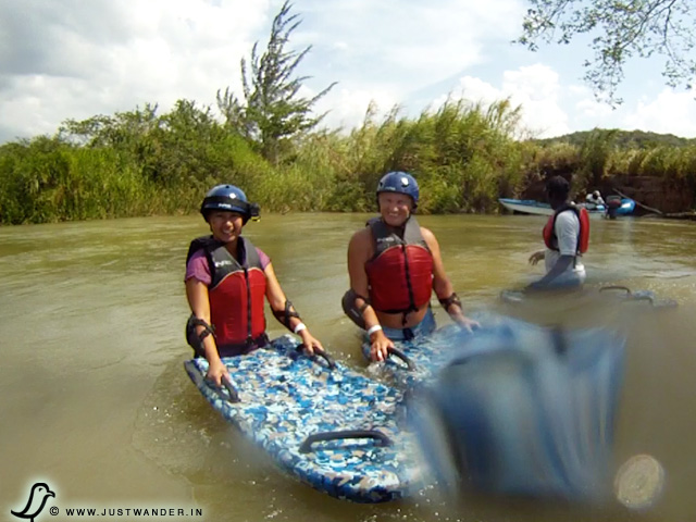 PIC: Adventure Travel - Riverboarding at Rio Bueno River, Jamaica
