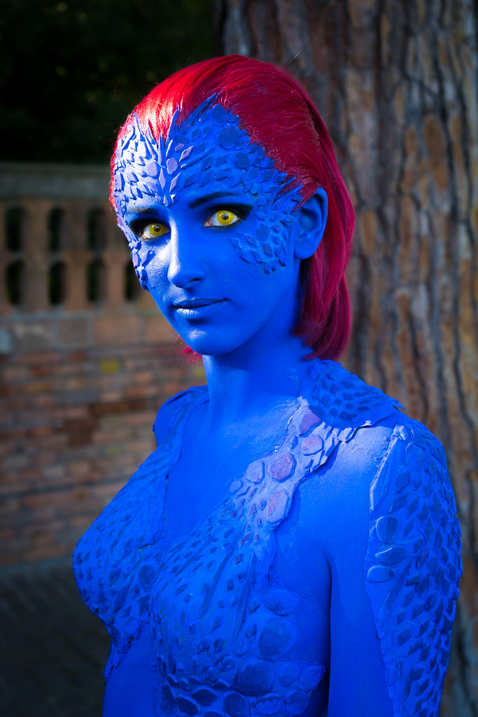 Mystique promoting X-Men, Rimini, Italy | This is a free ...