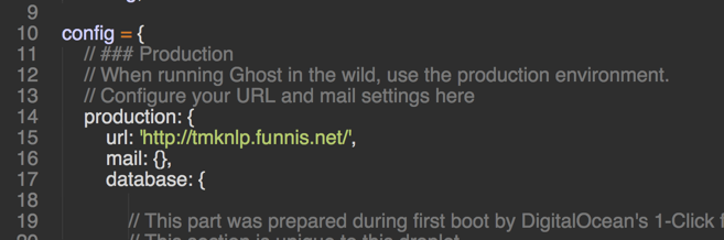 「config.js」の15行目にあるurlの値をサブドメインに設定