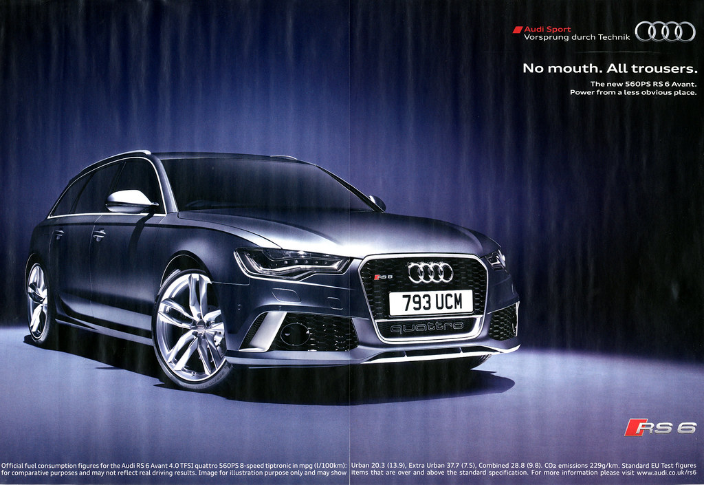 Audi Rs6 Advert From A British Car Magazine Marc Sayce