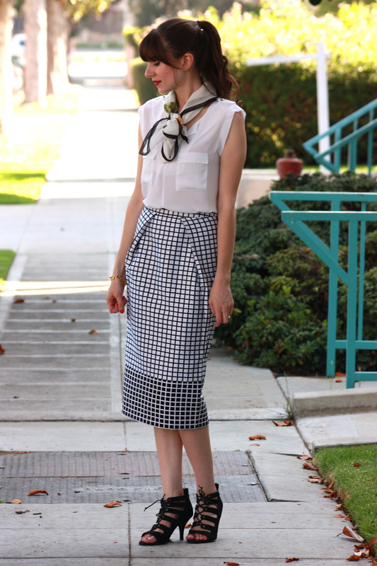 Checked Midi Skirt 2