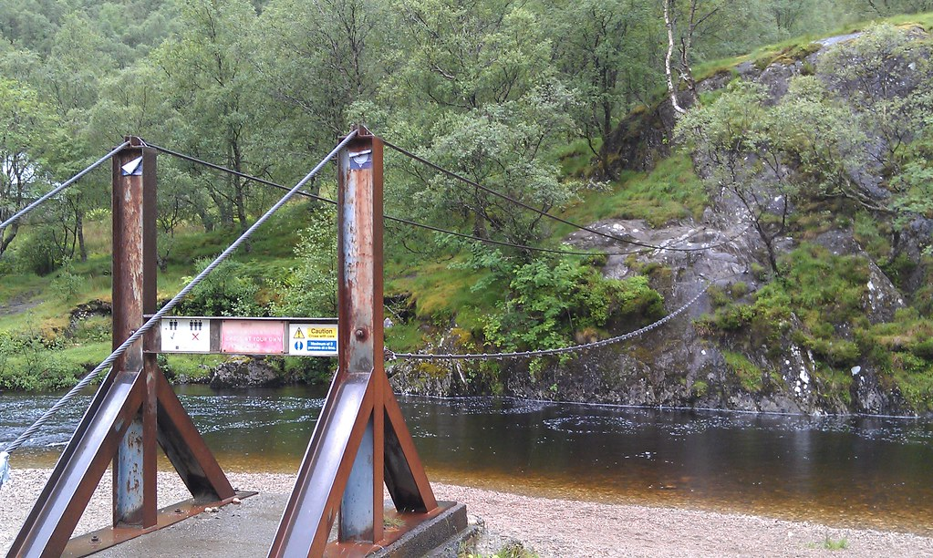 Amazing cable bridge on Steall Falls hike | Peter Stevens ...