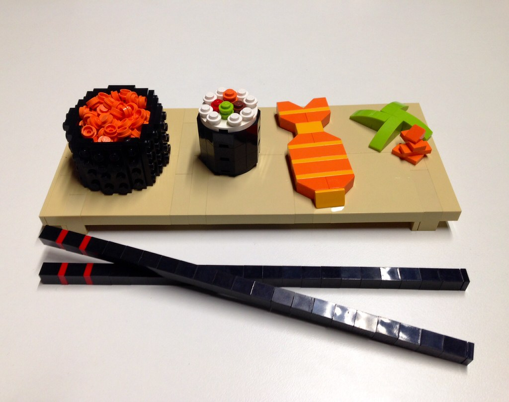 Lego food sushi inspired by other lego sushi i have for Adaro sushi pan asian cuisine