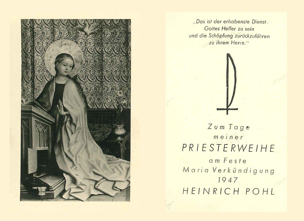 Priesterweihe Pohl, Heinrich 25.03.1947