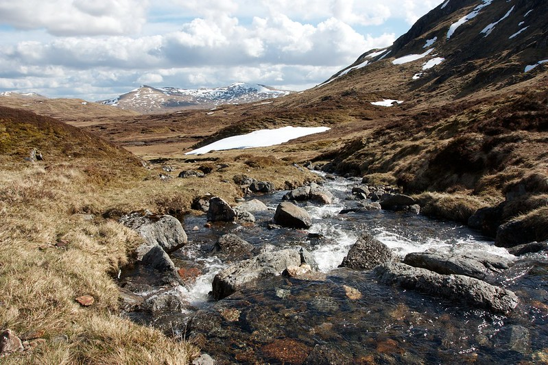 Tumbling stream east of Beinn Heasgarnich