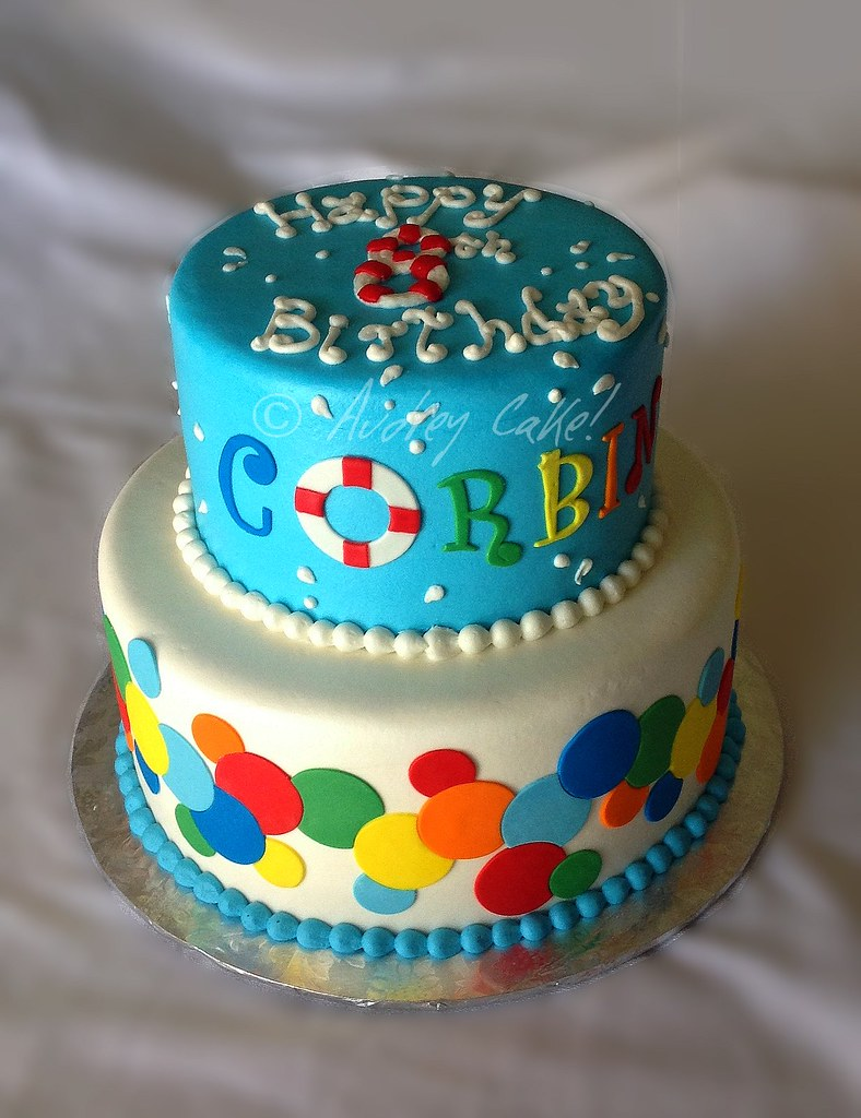 Pool Party Birthday Cake This fun and colorful cake made ...