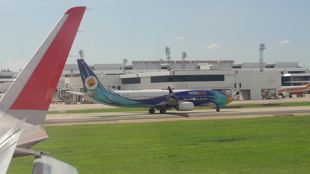 Bangkok Thailand Airport Landing at Don Mueang International Airport Dmk Bangkok Thailand