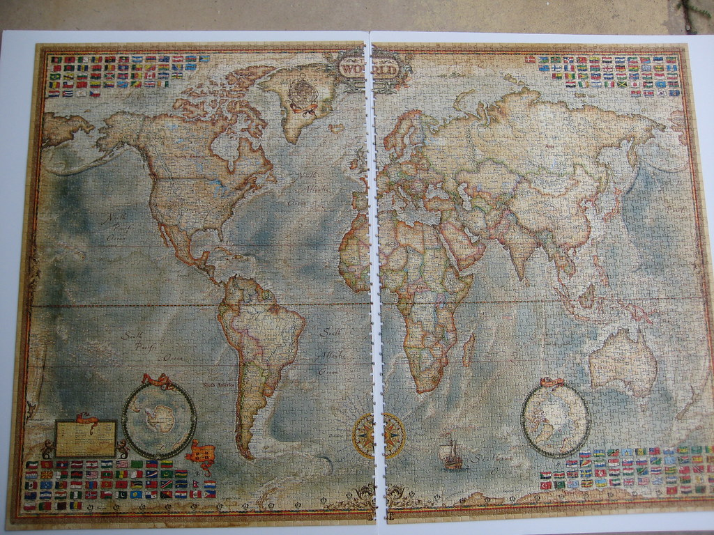 world executive map 4000 pieces educa i enjoyed assembli flickr. Black Bedroom Furniture Sets. Home Design Ideas