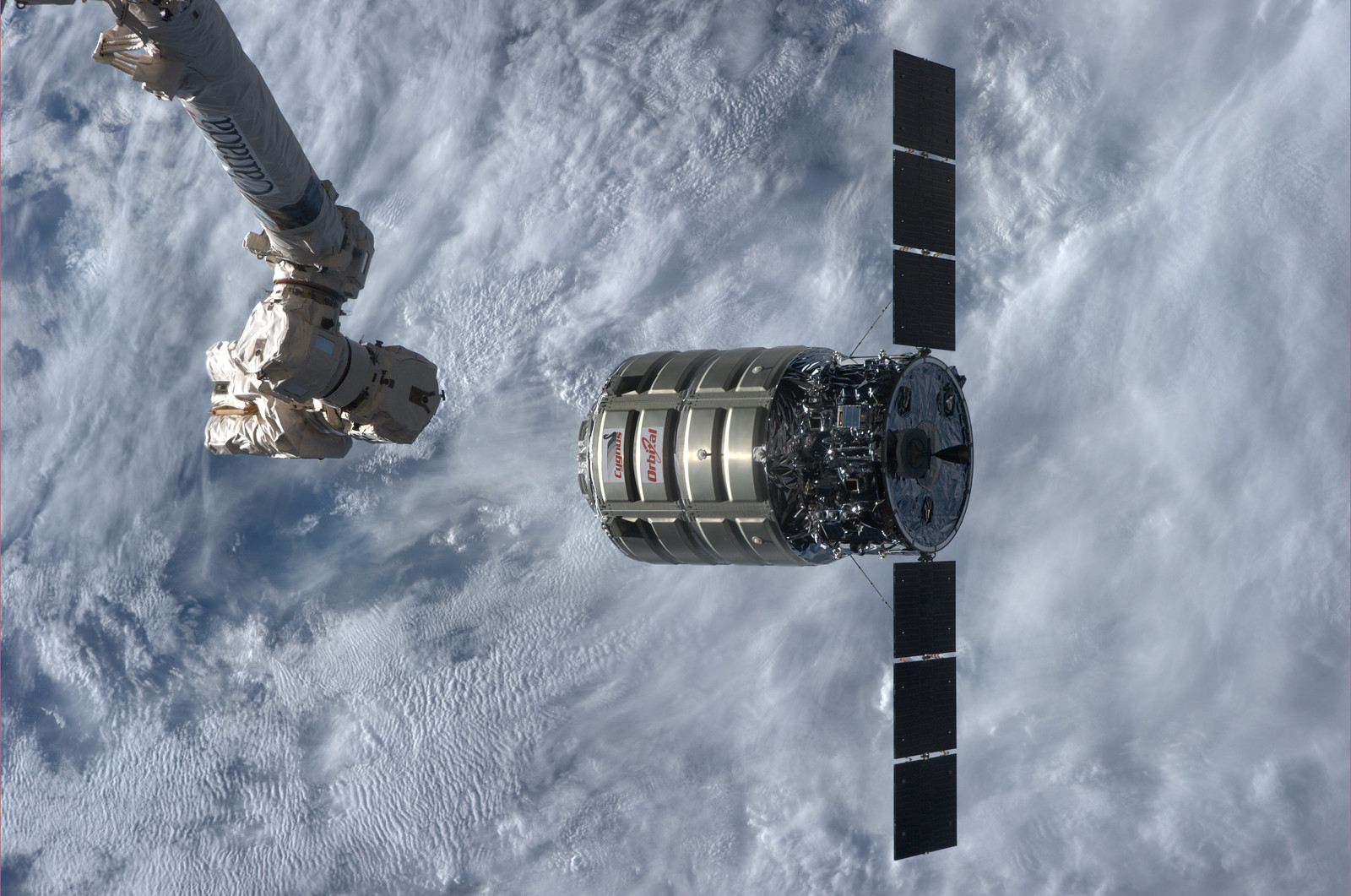 Orbital Science's Cygnus Orbital-2 spacecraft
