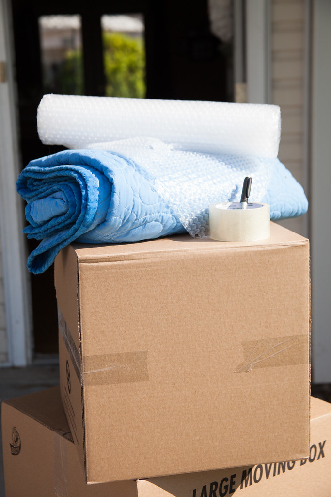 moving boxes and moving supplies shipping blankets tape flickr. Black Bedroom Furniture Sets. Home Design Ideas