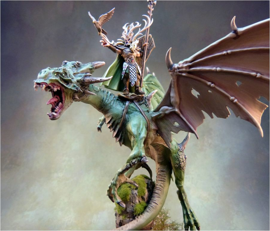 lord on forest dragon warhammer 11 check out my bl flickr