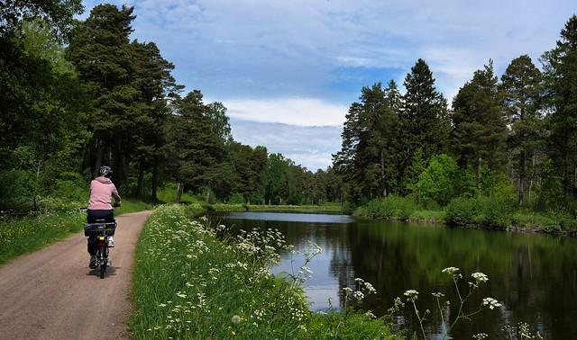 Biking along Gøta (Gota) Canal, Sweden