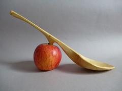 #239 Birch serving spoon