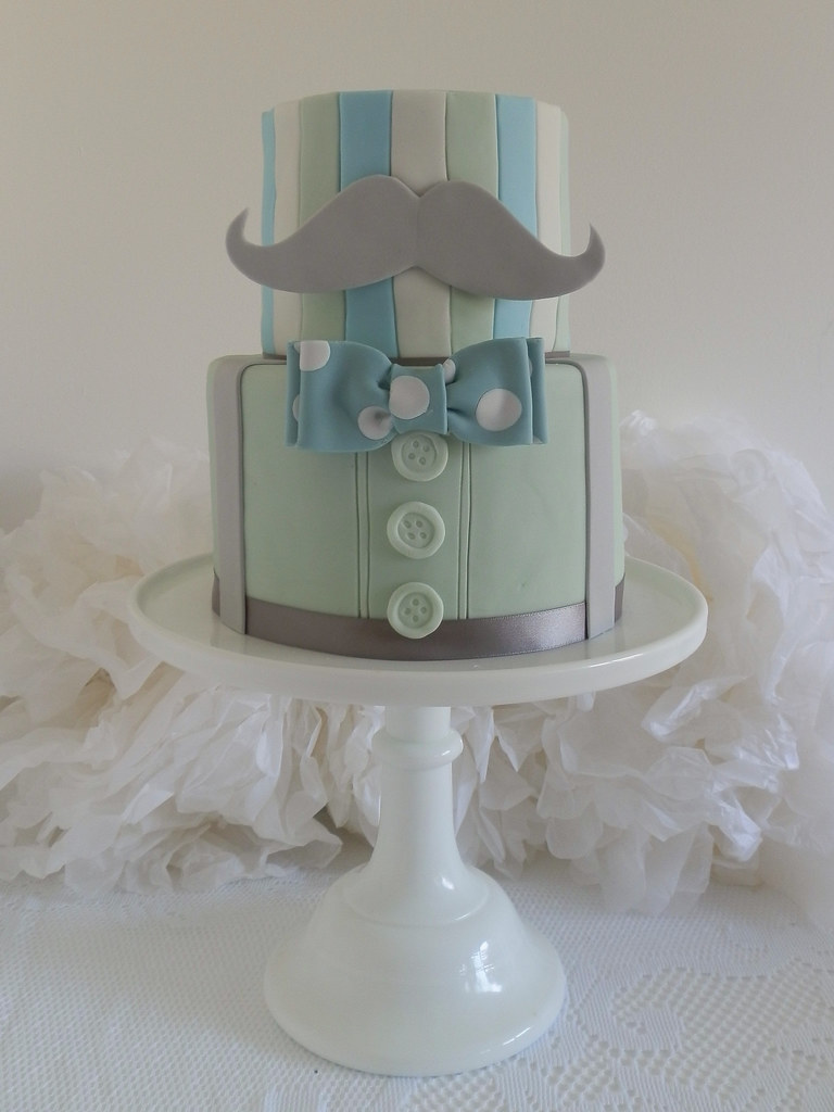 Button Christening Cake
