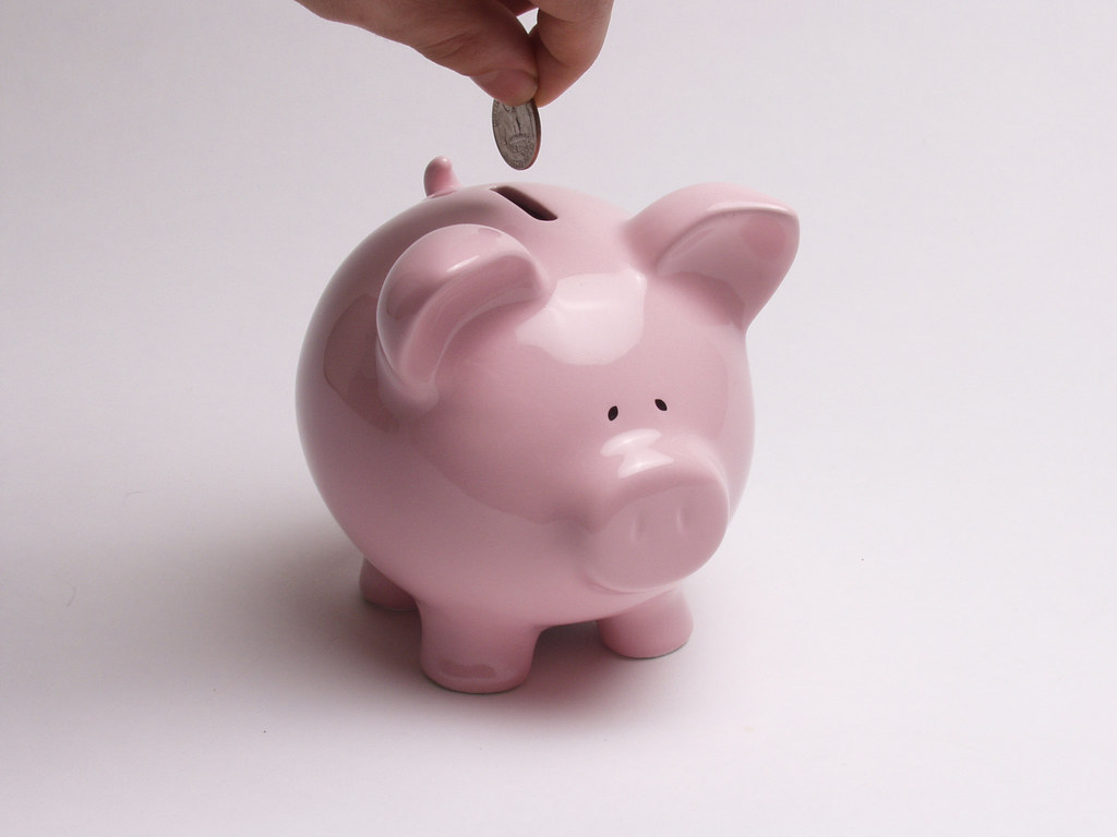 Image result for Putting Money into the Piggy Bank flickr