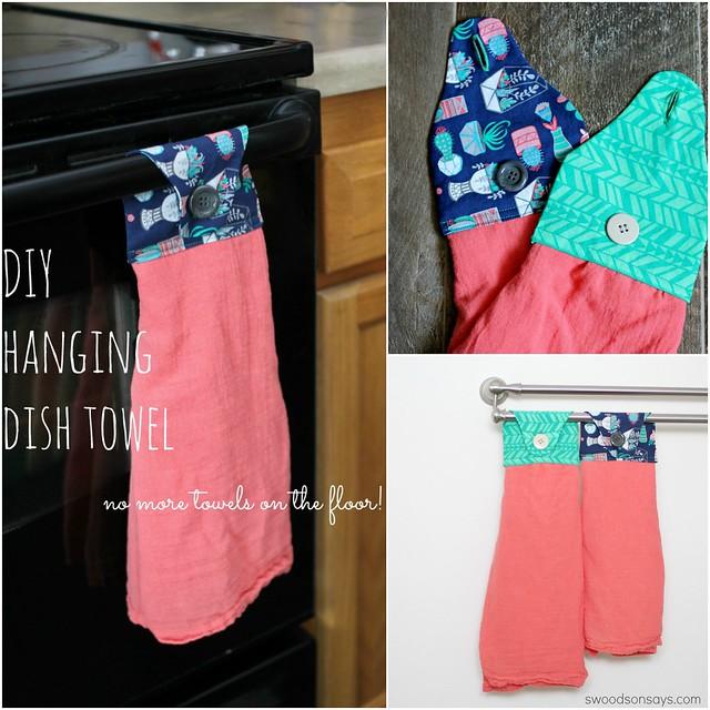 diy dish towel sewing tutorial