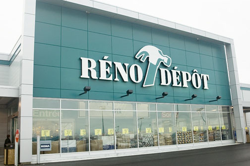 Many strategic changes can be seen at the company's Reno-Depot stores in Quebec
