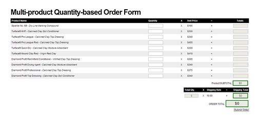 Sample Order Form