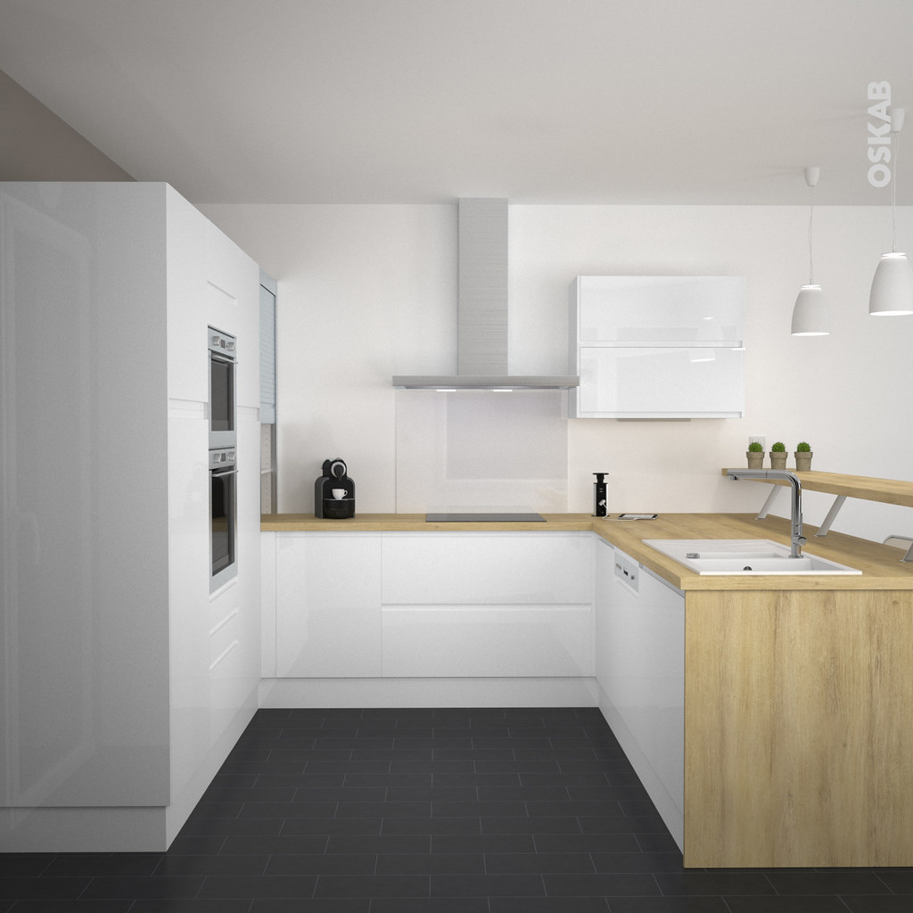 Cuisine ultra design for Installer plan de travail sans meuble
