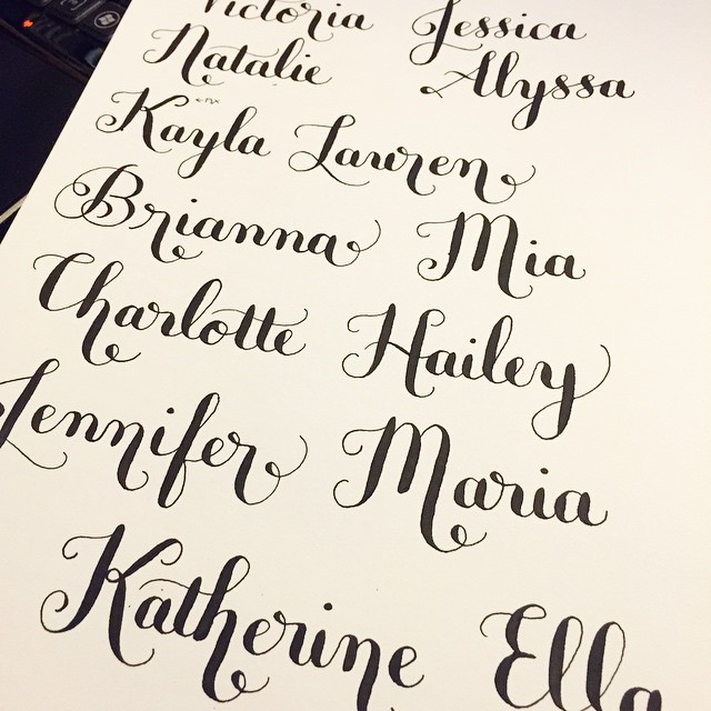 What's Your Name? #lettering #calligraphy #moderncalligrap