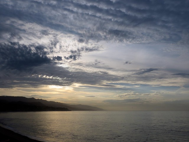 humid sunrise in malibu