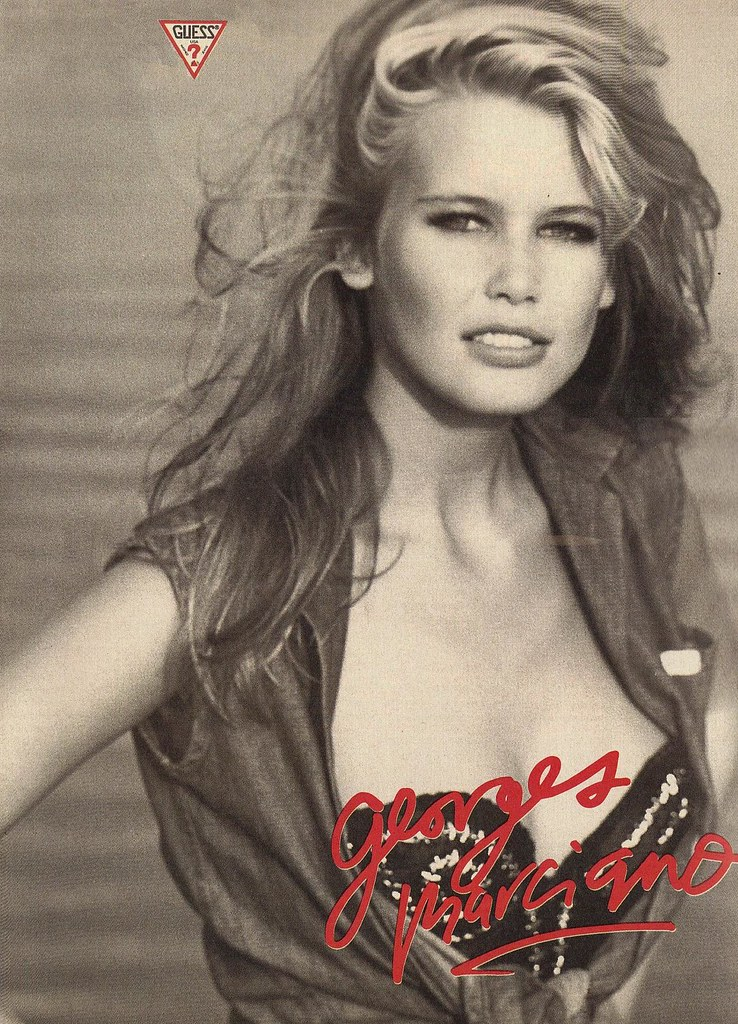 Claudia Schiffer Guess Jeans ad 1989 Georges Marciano | Flickr Guess Jeans Ad