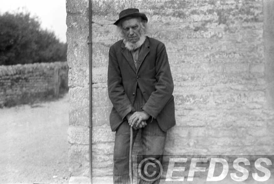 Believed to be a photograph of Shepherd Hayden, taken by Cecil Sharp. Copyright EFDSS.