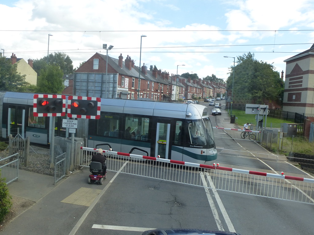 Nottingham Express Transit Tram 204 An Example Of A