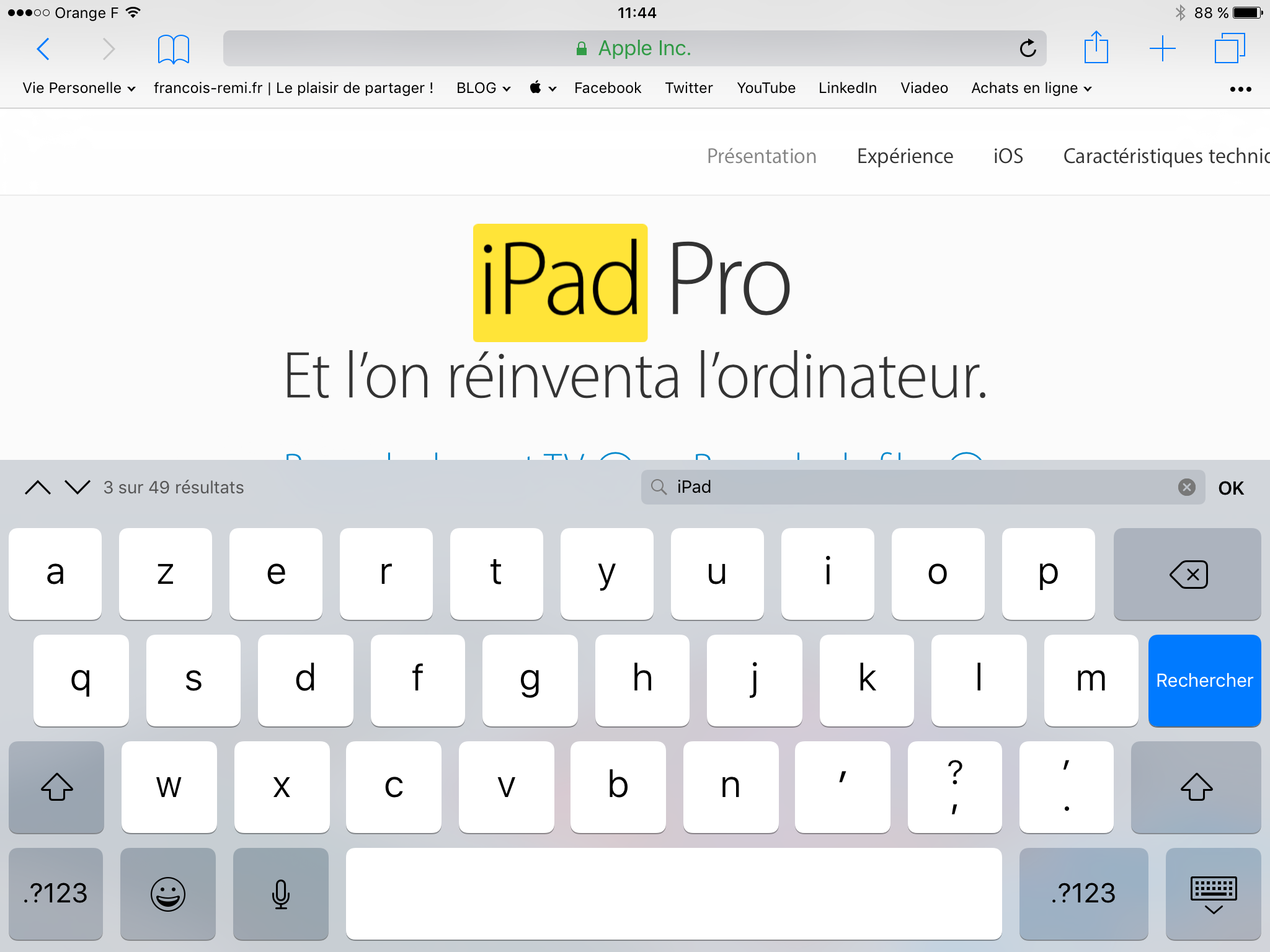20170216 Comment rechercher un mot dans une page Internet sur iPad et iPhone 00006
