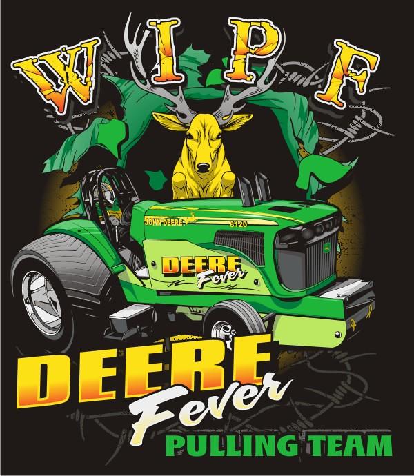 Custom Pulling Tractor T Shirts : Deere fever pulling team custom t shirt design for the