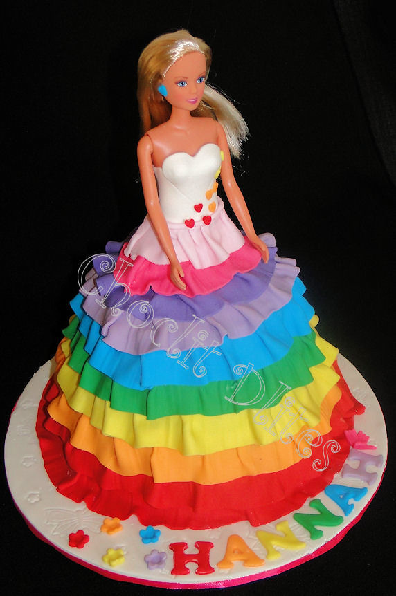 Happy Birthday Barbie Doll Cake