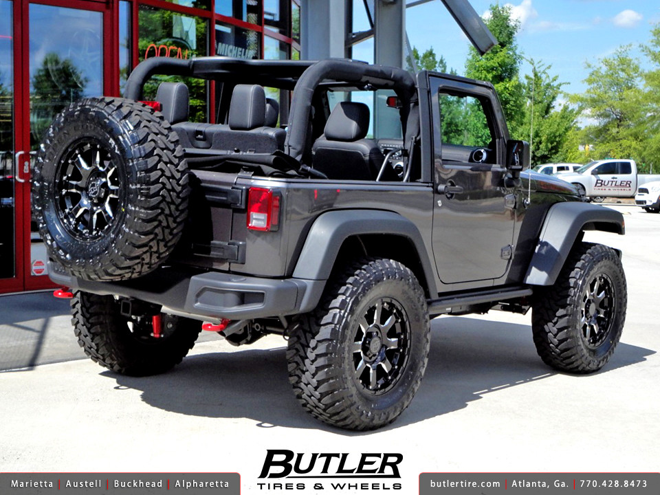 White Jeep Wrangler With Black Rims >> Jeep Wrangler Rubicon with 18in Black Rhino Sierra Wheels | Flickr