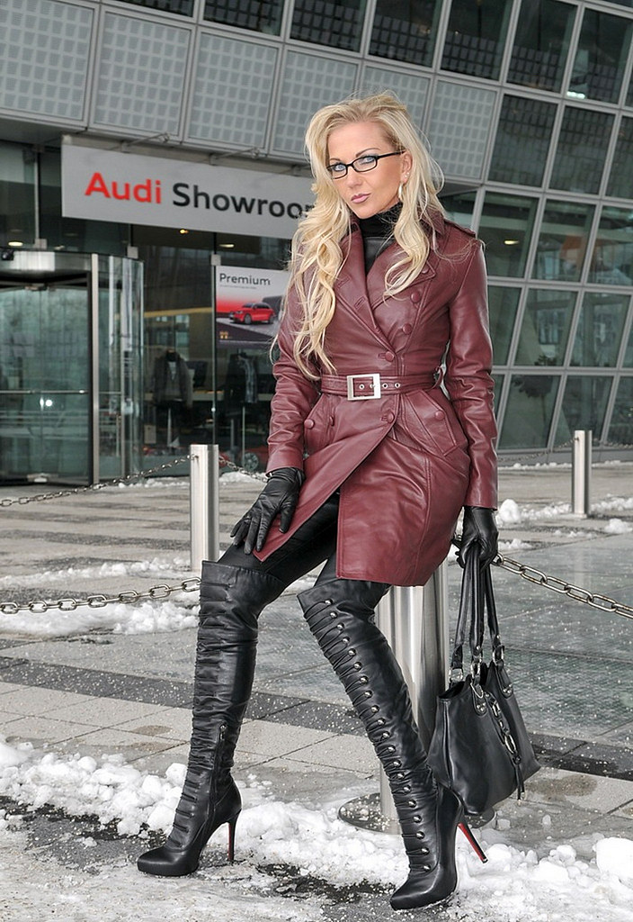 Leather Trench Coat Spy Queen Heike! Resized ...