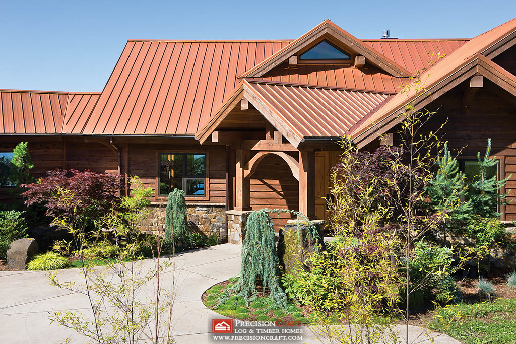Front Entry Washington Timber Frame Home Guests