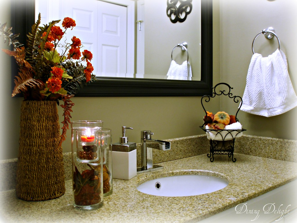 ... Fall Bathroom Counter Decor | By Dining Delight