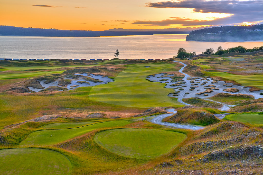 Chambers Bay Golf Course Location Of The US Open Ta Flickr - Us open course map