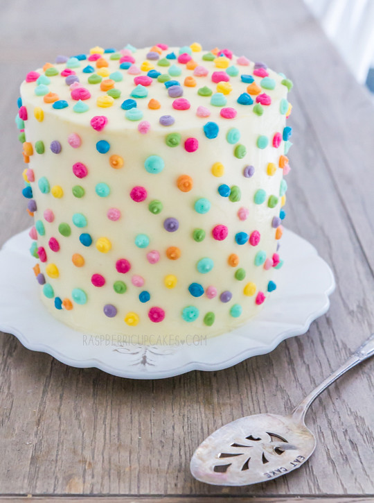 Polka Dot Icing Cake With Strawberry Amp Rhubarb Www