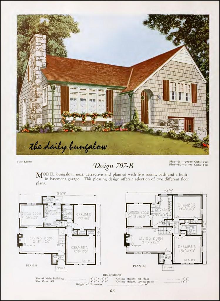 1920 National Plan Service Modern Home Of The Twenties