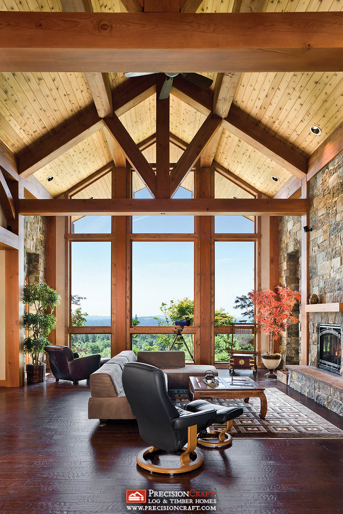 Great room washington timber frame home the strong for Timber frame great rooms