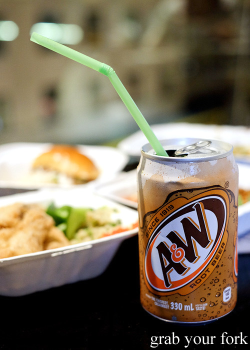 A&W root beer from Yang's Malaysian Food Truck in Sydney