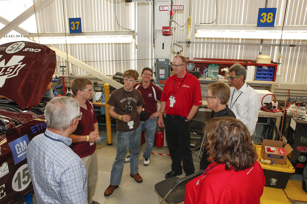 Deans Talk To Mississippi State At General Motors Milford