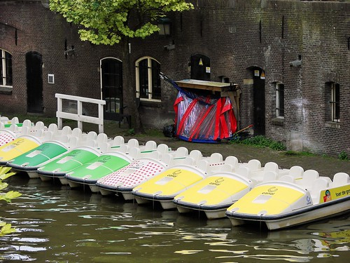 Oudegracht paddle boats also ready for the Tour de France