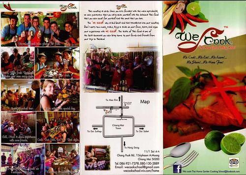 Brochure We Cook Thai Home Garden Cooking School Chiang Mai Thailand 1